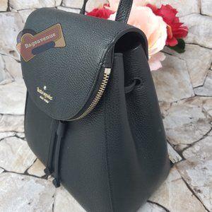 Black Medium Flap Backpack Black Leila Kate Spade